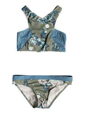 록시 Roxy Girls 7-14 Surf The Desert - Crop Top Set