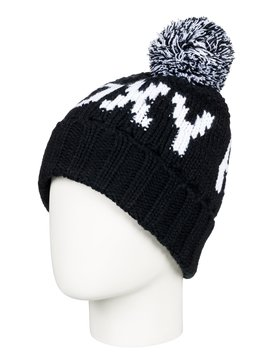 록시 Roxy Tonic Pom-Pom Beanie,TRUE BLACK (kvj0)