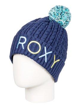 록시 Roxy Fjord Pom-Pom Beanie,CROWN BLUE (bqy0)