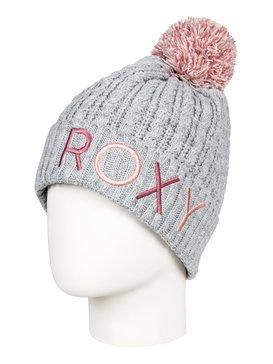 록시 Roxy Fjord Pom-Pom Beanie,WARM HEATHER GREY (sjeh)