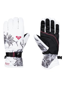 록시 Roxy ROXY Jetty Snowboard/Ski Gloves,BRIGHT WHITE_SWELL FLOWERS (wbb2)