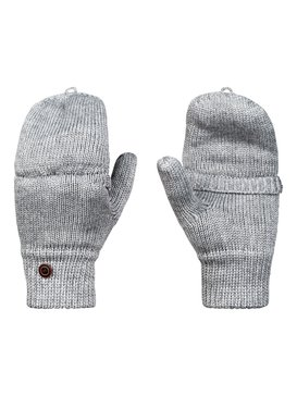 록시 Roxy Frozen Jaya Knitted Mittens,WARM HEATHER GREY (sjeh)