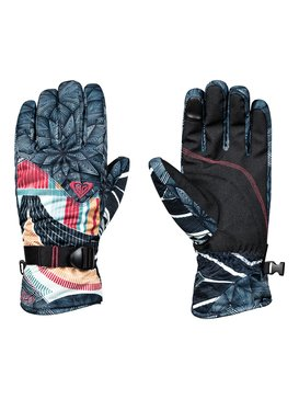 록시 Roxy ROXY Jetty SE Snowboard/Ski Gloves,TRUE BLACK_POP SNOW STARS (kvj6)