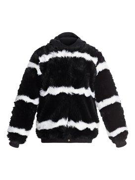 록시 Roxy Carrie Technical Faux Fur Jacket,TRUE BLACK (kvj0)