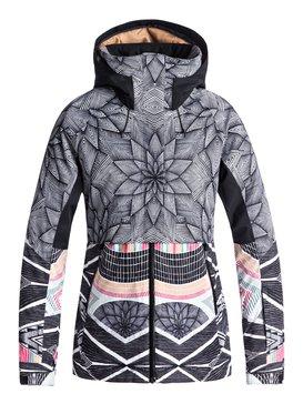 록시 Roxy Frozen Flow Snow Jacket,TRUE BLACK_POP SNOW STARS (kvj6)