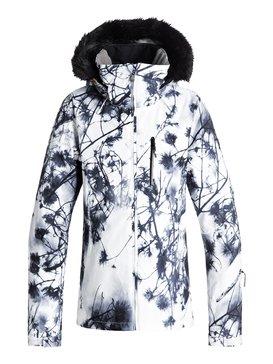 록시 Roxy Jet Ski Premium Snow Jacket,BRIGHT WHITE_PINE SKY (wbk1)