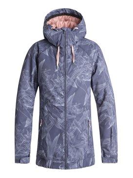 록시 Roxy Valley Snow Jacket,CROWN BLUE_WASHED FLORAL (bqy6)
