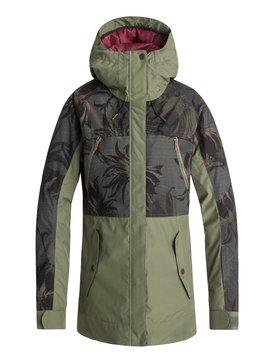 록시 Roxy Tribe Snow Jacket,FOUR LEAF CLOVER_SWELL FLOWERS (gph2)
