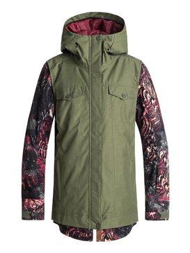 록시 Roxy Ceder Snow Jacket,FOUR LEAF CLOVER_ZEBRATREE (gph3)