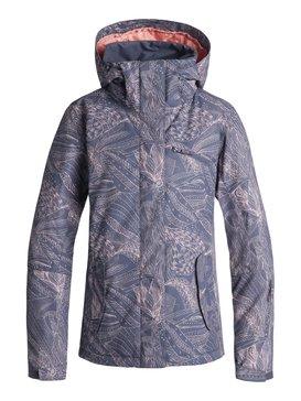 록시 Roxy ROXY Jetty Snow Jacket,CROWN BLUE_QUEEN MOTIF (bqy9)