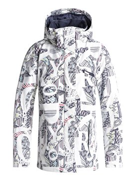 록시 Roxy ROXY Jetty Snow Jacket,BRIGHT WHITE_FREESPACE GIRL (wbb1)