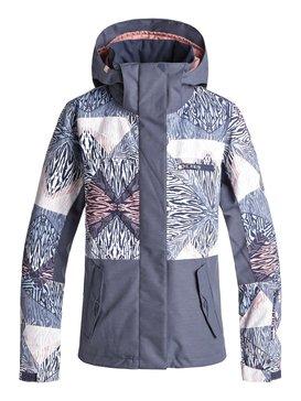록시 Roxy ROXY Jetty Block Snow Jacket,POWDER BLUE_ANIMAL GEO (bgb2)