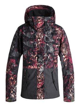 록시 Roxy ROXY Jetty Block Snow Jacket,FOUR LEAF CLOVER_ZEBRATREE (gph3)