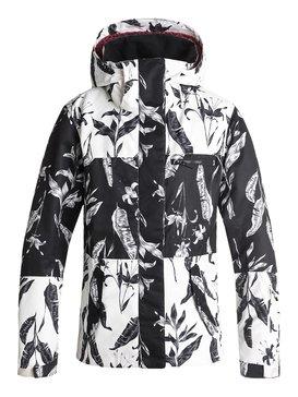 록시 Roxy ROXY Jetty Block Snow Jacket,TRUE BLACK_LOVE LETTER (kvj2)