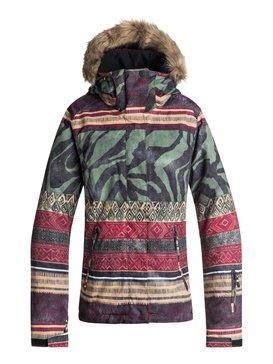 록시 Roxy Jet Ski SE Snow Jacket,TRUE BLACK_WILD ETHNIC (kvj3)
