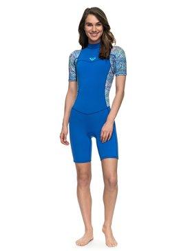 록시 원피스 서핑 래쉬가드 잠수복 Roxy 2mm Syncro Series Short Sleeve Back Zip FLT Springsuit