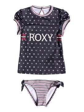 록시 여아용 래쉬가드 세트 Roxy Girls 2-6 Gipsy ROXY Short Sleeve UPF 50 Rashguard Set