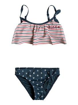 록시 여아용 비키니 세트 Roxy Girls 2-6 Surfing USA Flutter Bikini Set
