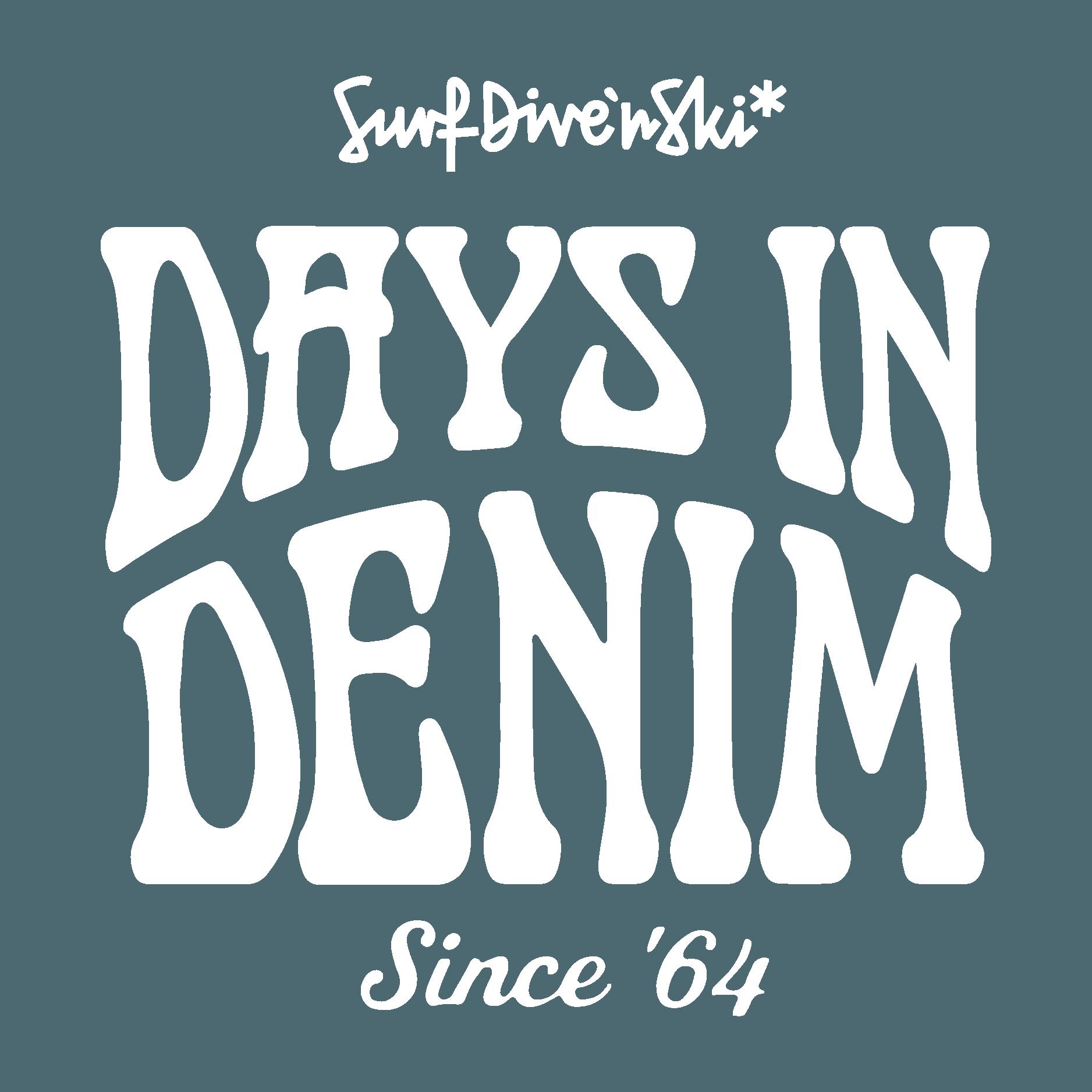 Days In Denim Logo White