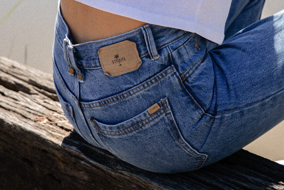 Back of Blue Thrills Denim Jeans