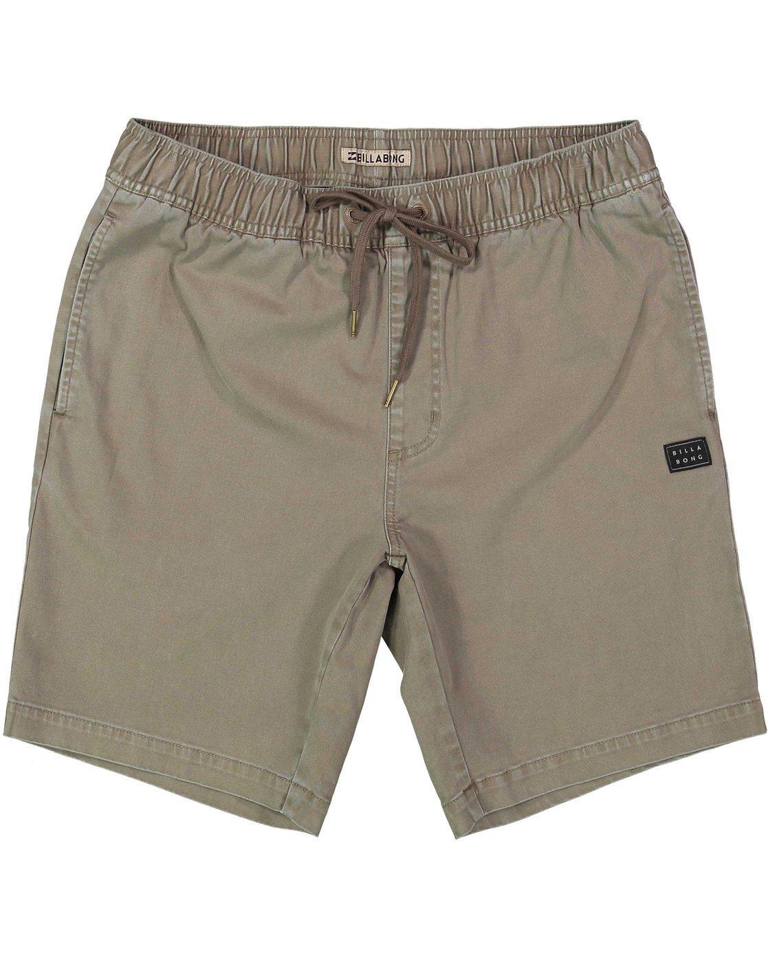 0 Boys Larry Stretch Elastic Shorts Beige B244qbls Billabong