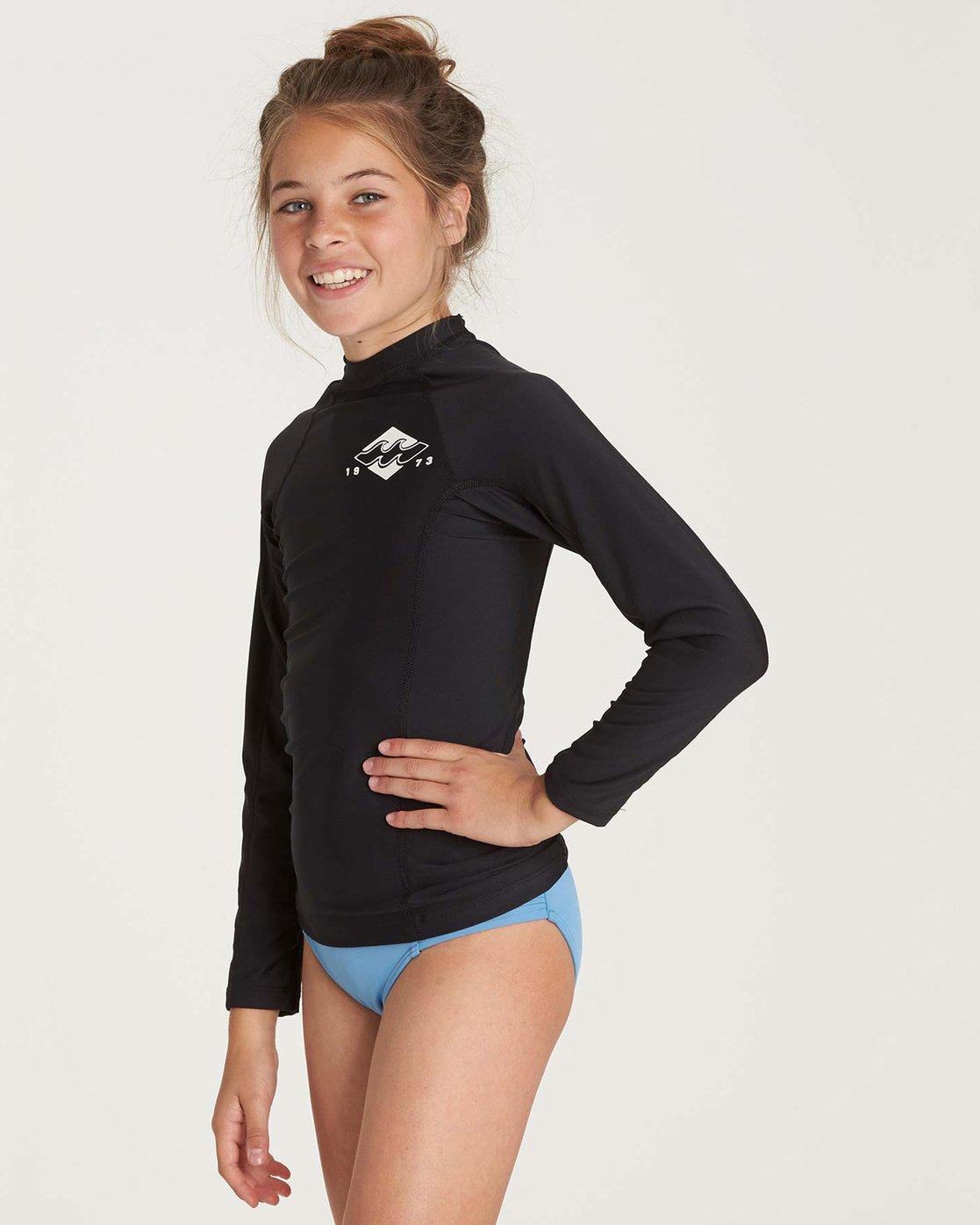 58ce03e22c81 1 Girls' Surf Dayz Performance Long Sleeve Rashguard Black GR51NBSD  Billabong