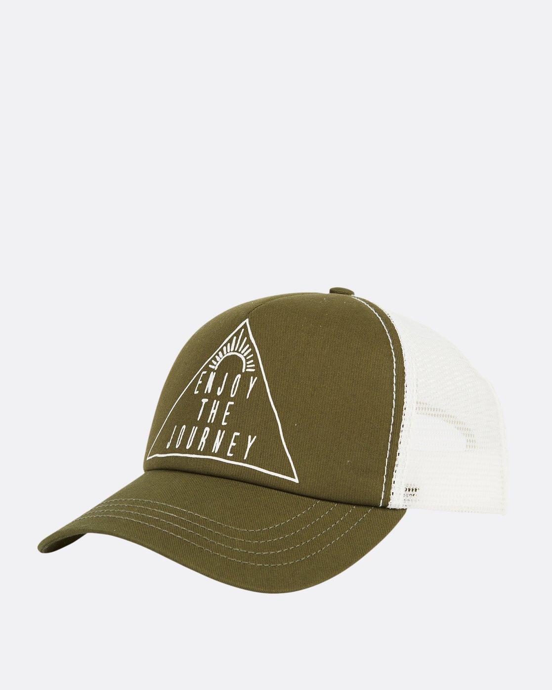 0 Aloha Forever Trucker Hat Green JAHWQBAL Billabong 1876a8b4f628