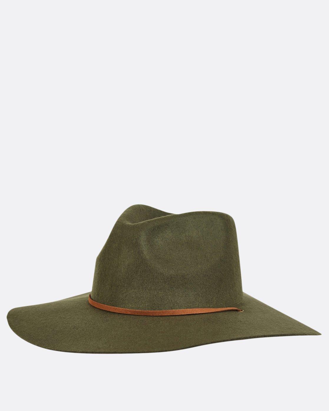 1 On The Rocks Felt Hat Green JAHWQBON Billabong 7d70819776f9