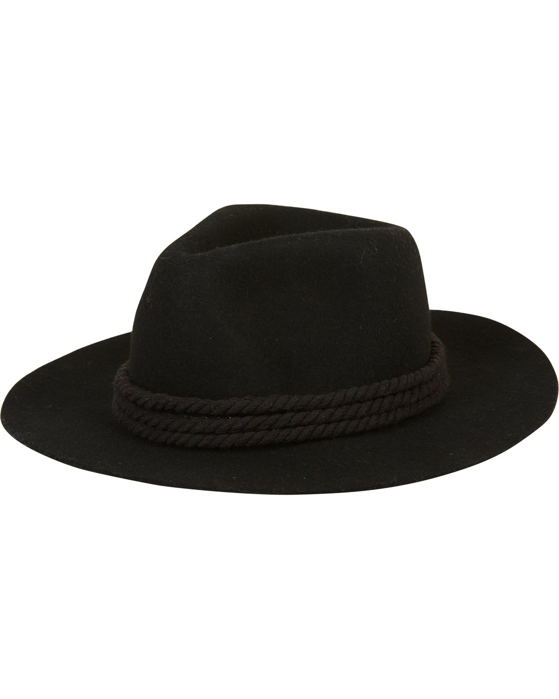 0d01befa6d3ef ... denmark 0 roped in felt hat black jahwsbro billabong 768bb 4e575