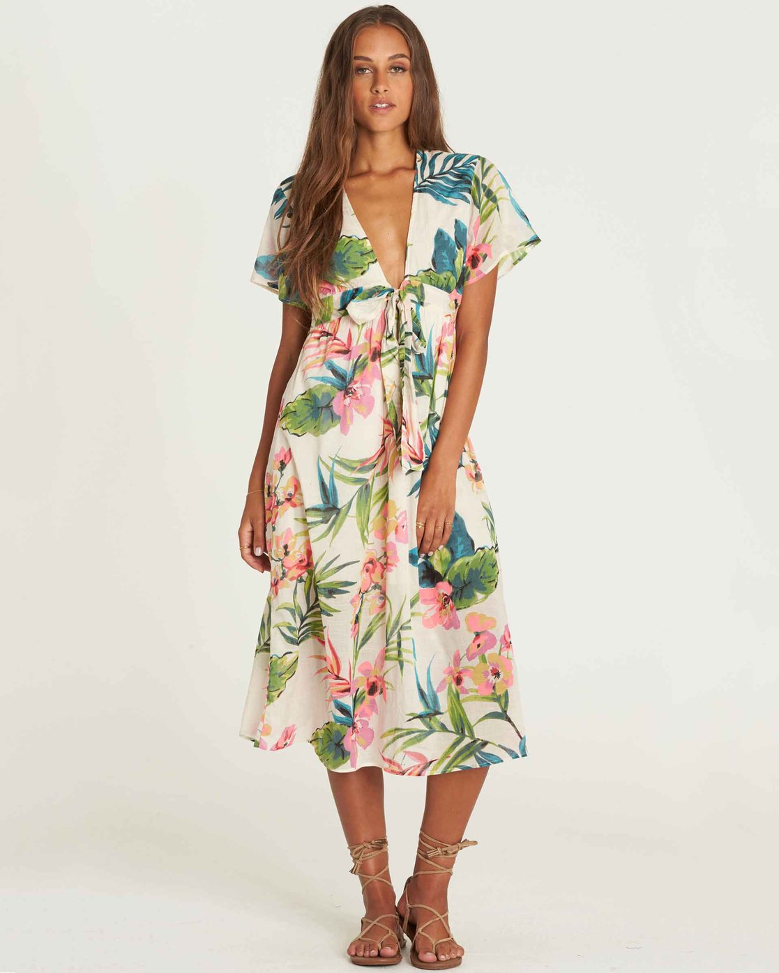 83b64856b1c Rolling Seas Tie Front Midi Dress Jd14pbro Billabong. 0 Crystal Flower Off  The Shoulder Maxi Dress Black Jd14sbcr Billabong