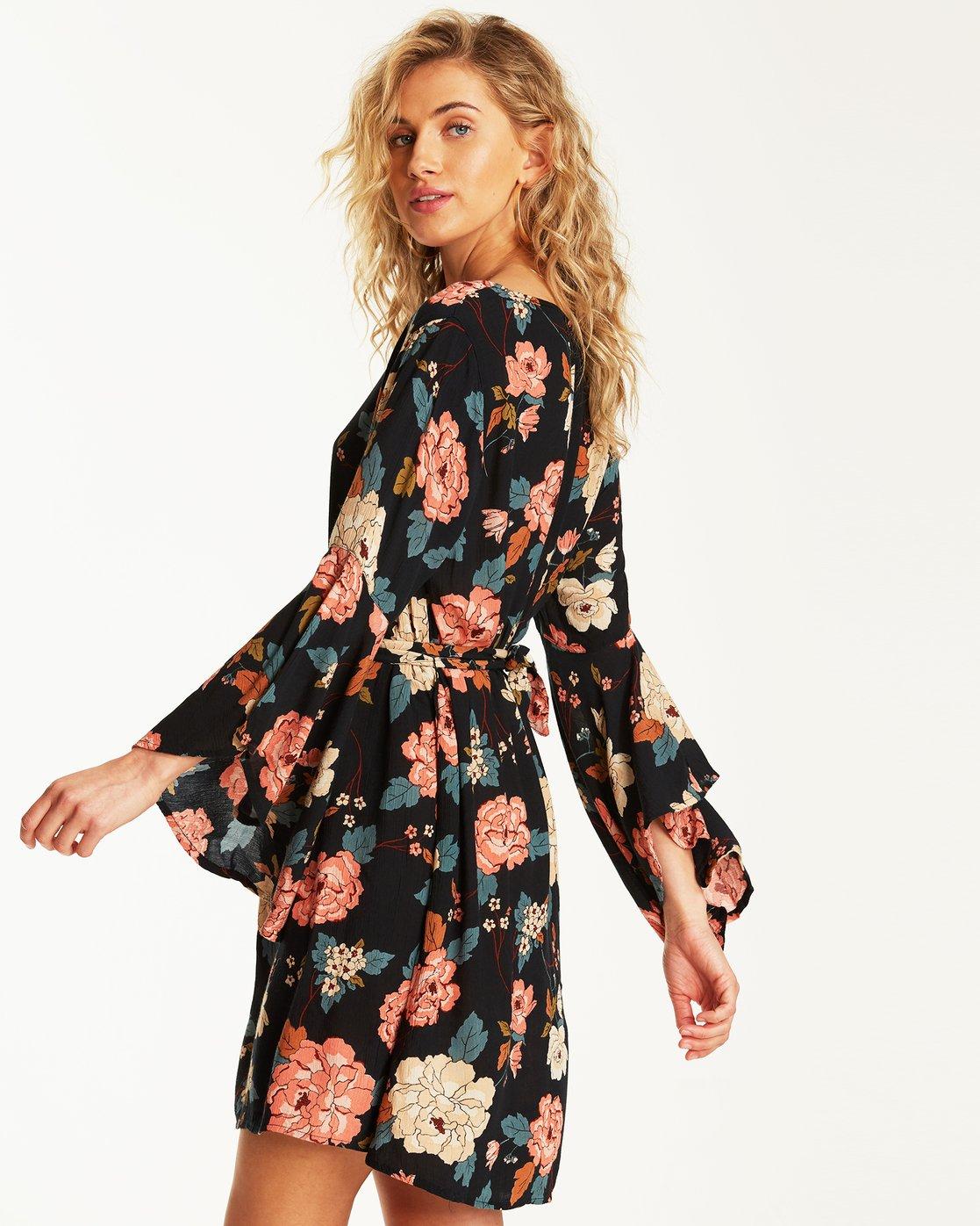 Always Love Floral Long Sleeve Dress Jd31sbal Billabong