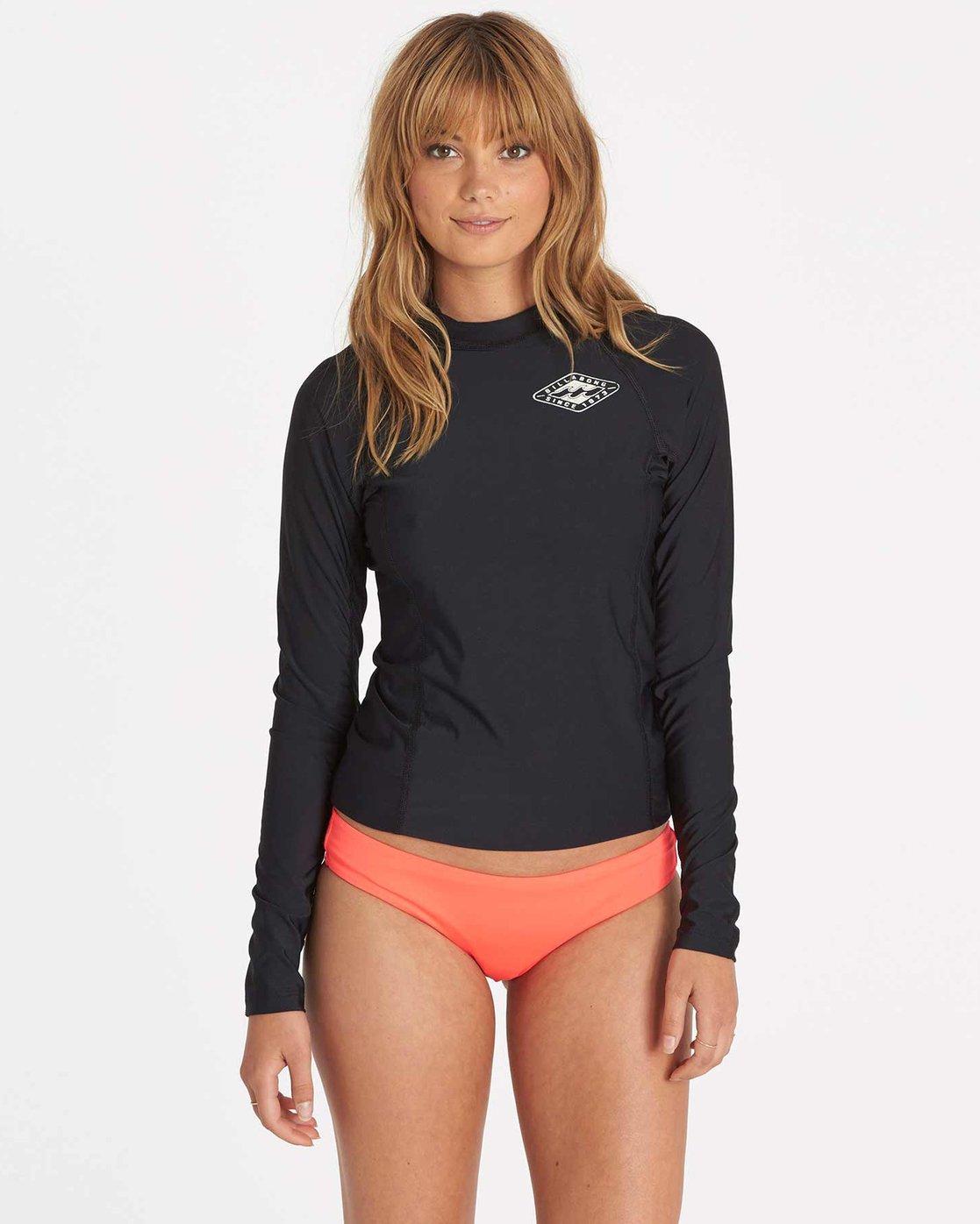 87614558e6b9 0 Surf Dayz Performance Fit Long Sleeve Black JWLYJSDL Billabong
