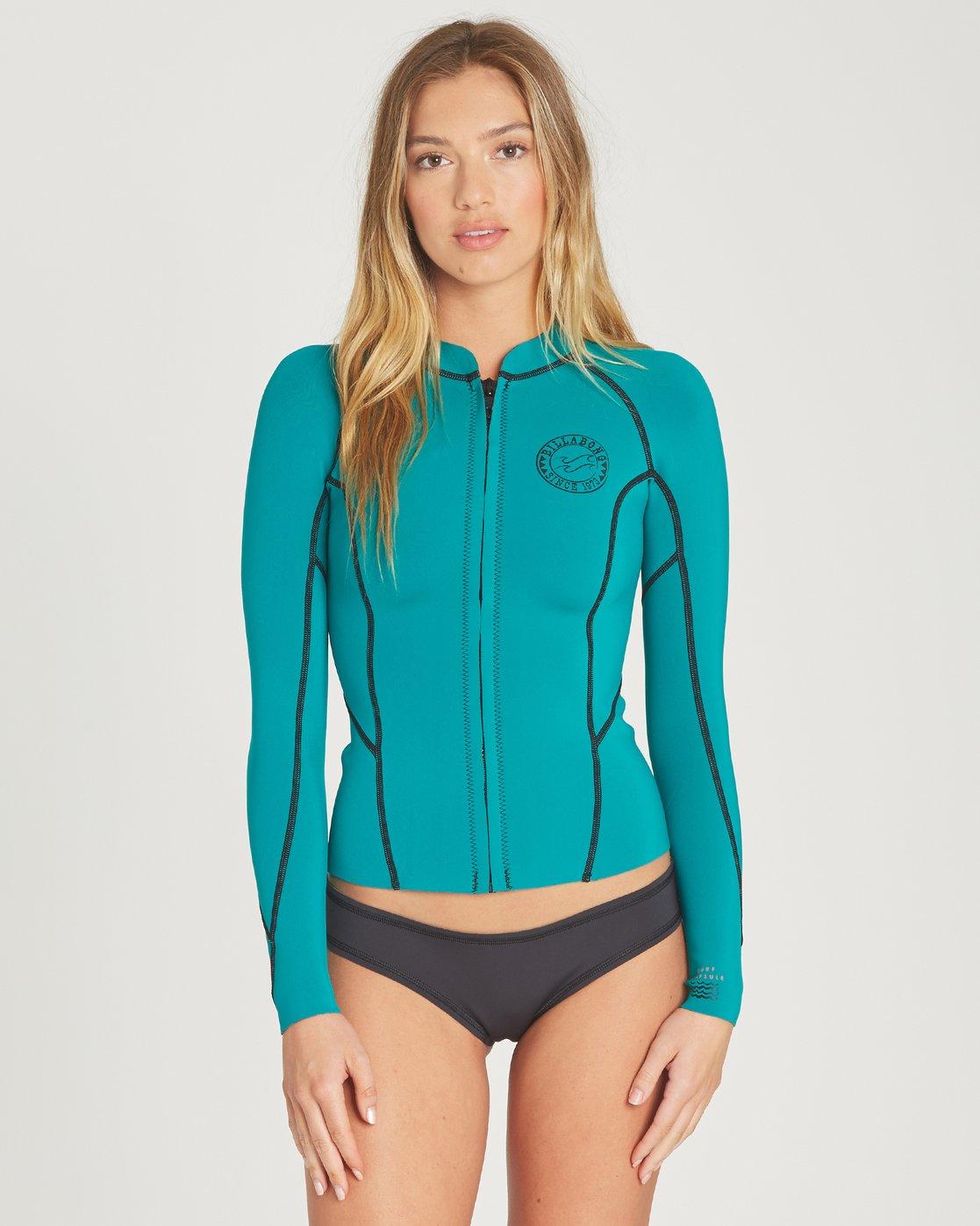 0 Peeky Wetsuit Jacket Green JWSHTBSL Billabong 73cacba58