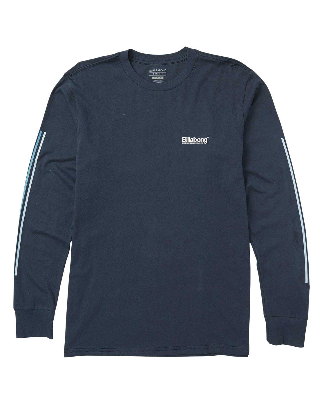 0 Pacific Long Sleeve Graphic Tee Shirt Blue M405SBPA Billabong ad9d9ad503a