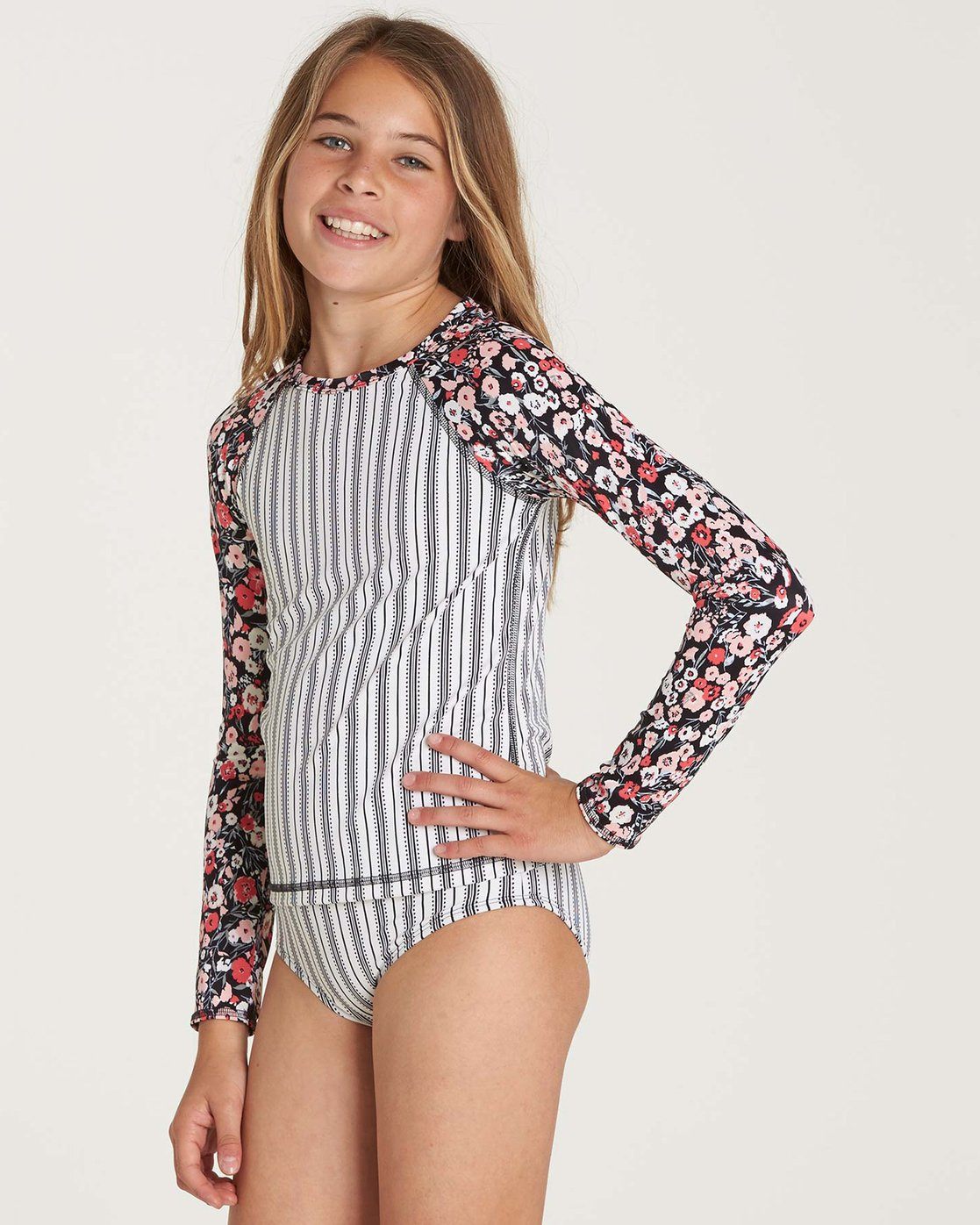 1148f0a52cfef 1 Girls  Ditsy Soul Rashguard Set Black Y218NBDI Billabong
