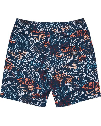 1 Boys' Sundays Pro Boardshorts Blue B123TBSU Billabong