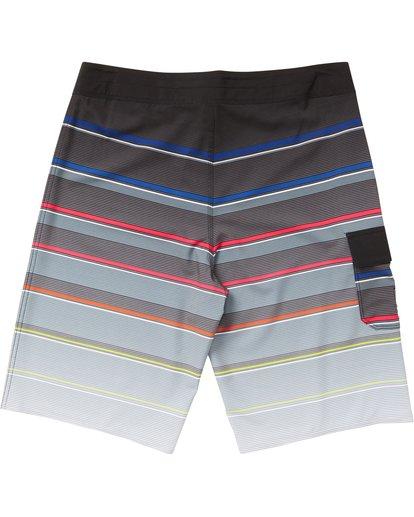 1 Boys' All Day X Stripe Boardshorts Grey B125NBAS Billabong