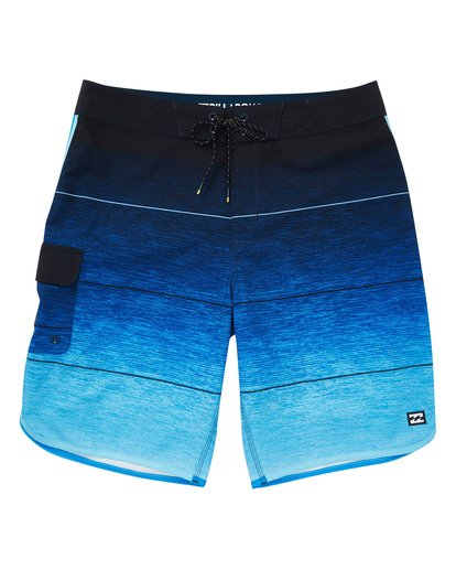 0 Boys' 73 Stripe Pro Boardshorts Blue B127TBST Billabong