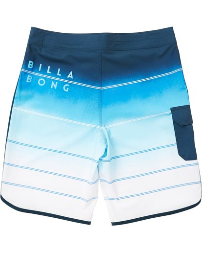 1 Boys' 73 X Stripe Boardshorts Blue B129NBSS Billabong