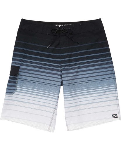 0 Boys' All Day Stripe Pro Boardshorts Black B133TBAS Billabong