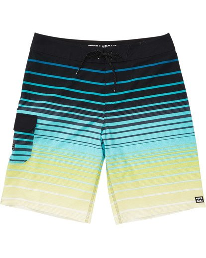 0 Boys' All Day Stripe Pro Boardshorts Yellow B133TBAS Billabong
