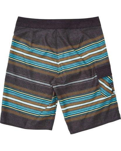 1 Boys' All Day Stripe OG Boardshorts Grey B160TBAD Billabong