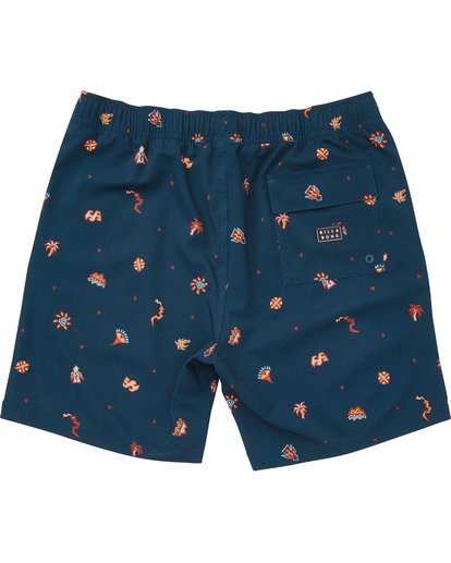 1 Boys' Sundays Layback Boardshorts Blue B180TBSU Billabong