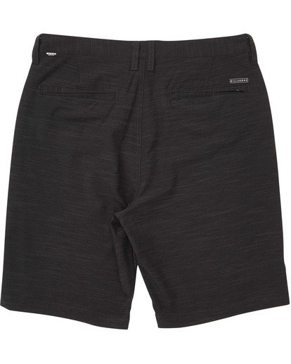 1 Boys' Crossfire X Slub Hybrid Short  Boardshorts Black B202TBCS Billabong