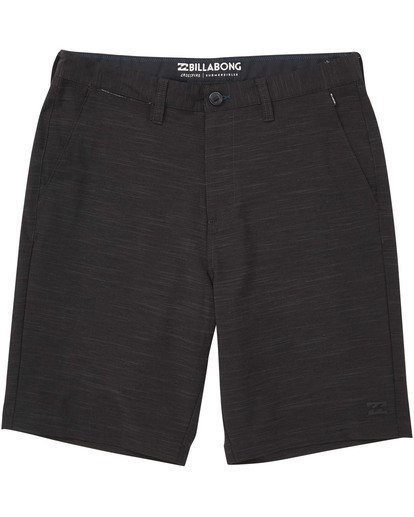 0 Boys' Crossfire X Slub Hybrid Short  Boardshorts Black B202TBCS Billabong