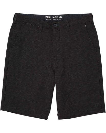 0 Boys' Crossfire X Slub Shorts Black B203NBCS Billabong