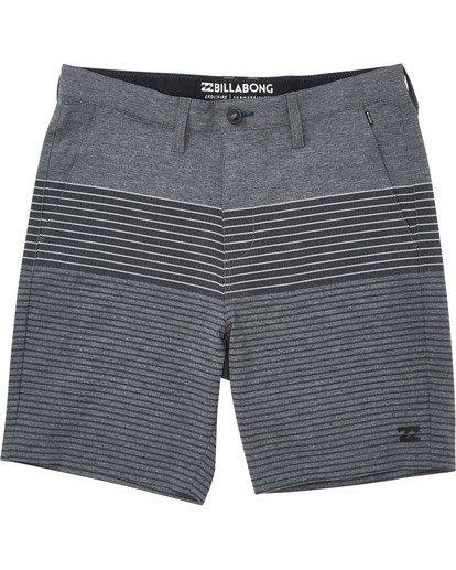 0 Boys' Crossfire X Stripe Shorts Grey B206TBCS Billabong