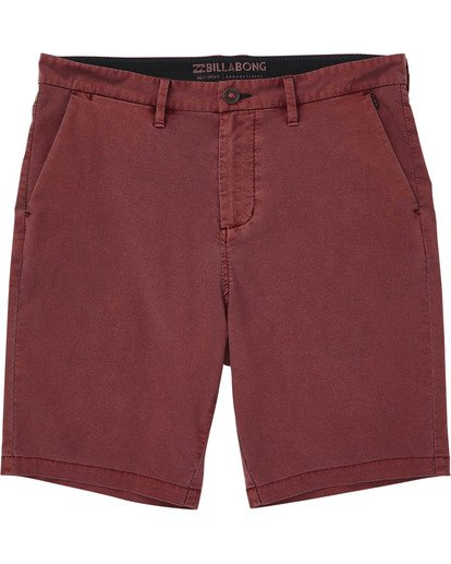 0 Boys' New Order X Overdye Shorts Red B207TBNO Billabong