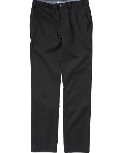 0 Boys' Carter Chino Pant Black B309LCCH Billabong