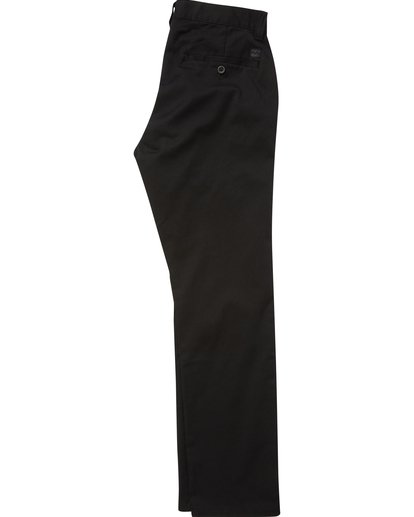 1 Boys' Carter Stretch Chino Pants Black B314QBCS Billabong